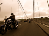 Biker on Tamar Bridge